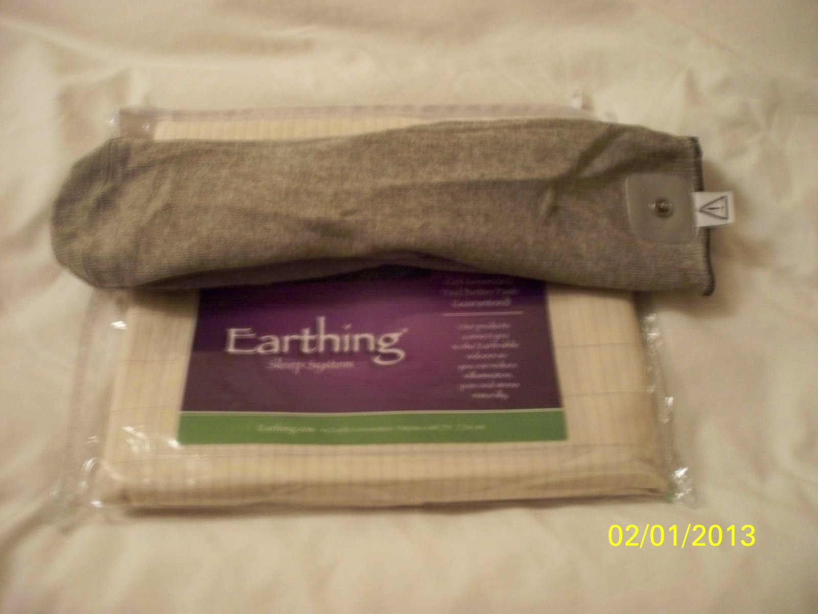 Earthing half sheet bed pad earthing socks starter kit for Starter bed